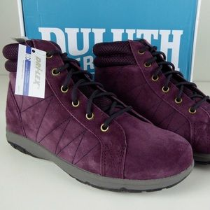 Duluth Trading Steel Creek Suede Ankle Boots NIB